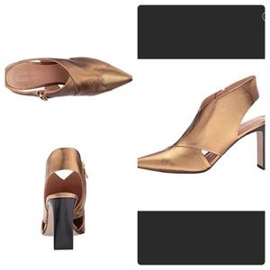 Sigerson Morrison Halima Pumps Metallic Gold sz6